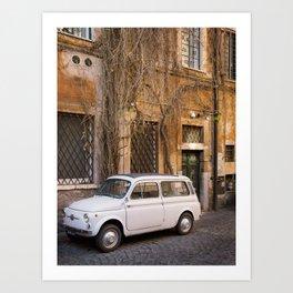 Trastevere Street - Travel Photography, Rome Italy Art Print