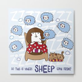 Where do sheep come from? Metal Print