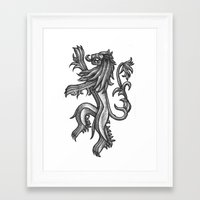 lannister Framed Art Prints featuring A Lannister Always Pays His Debts by Michael Wybrow
