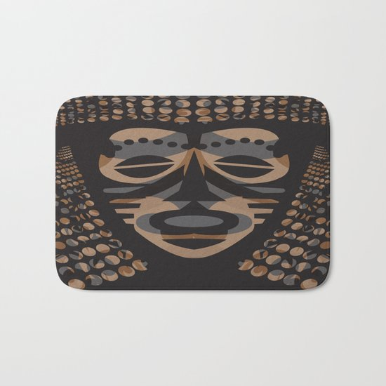 African Tribal Mask No. 1 Bath Mat