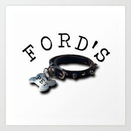 FORD'S PET Art Print
