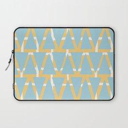 Blue and Yellow Arrowhead Print Laptop Sleeve