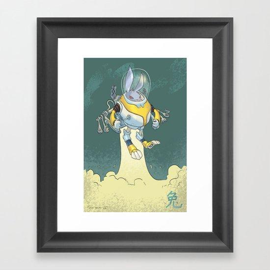 Astro Zodiac Force 04: Rabbit Framed Art Print