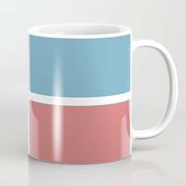 Summery Squares #summer #pink #blue #squares #graphicdesign #buyart #society6 #summergift #giftideas Coffee Mug