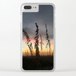 Beachgrass at Sunset Clear iPhone Case