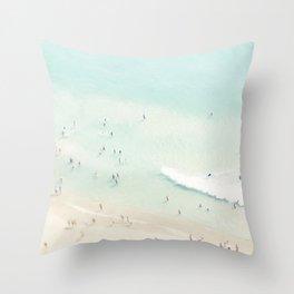 beach summer fun Throw Pillow