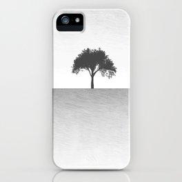 Tree Artwork Grey And Black Landscape iPhone Case