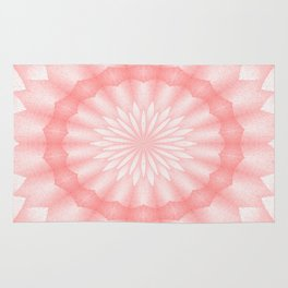 Mozaik Mandala Flower (coral) Rug
