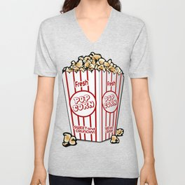 Cartoon Sweet Popcorn Unisex V-Neck