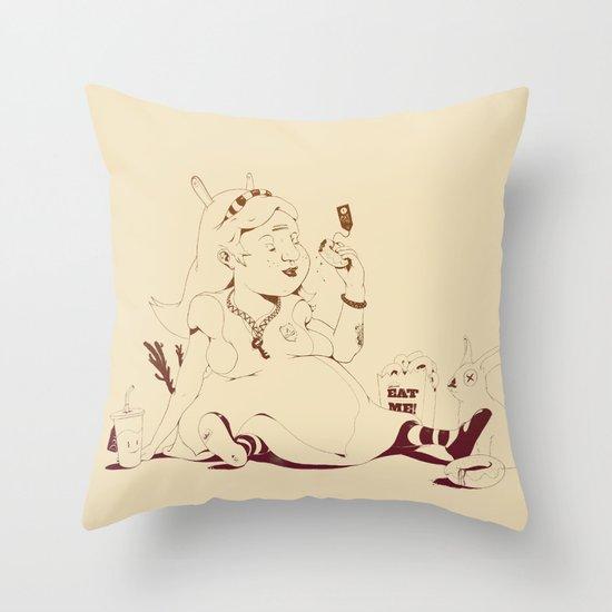 Alice stuck in the wonderland ! Throw Pillow