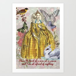 Elizabeth 1st digital collage Art Print