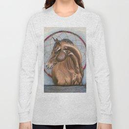 Horse With Dream Catcher Long Sleeve T-shirt