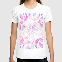 Rainbow Dreamcatcher - Trippy Mandala - Iridescent Feathers T-shirt