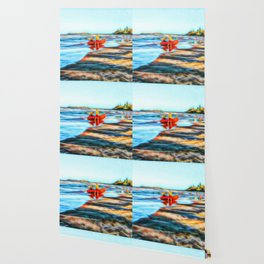 Surf Rescue on beautiful beach Wallpaper