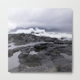 Faroe Islands rocky shores  Metal Print