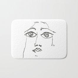 Woman gazing Bath Mat