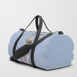 Great Blue Heron Fishing - I Duffle Bag