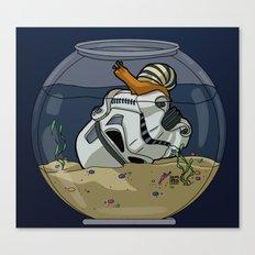 Snail Trooper Canvas Print
