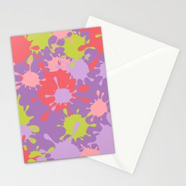 Paint Splatter-Purple+Pink+Green Stationery Cards