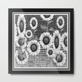 B&W NEW YORK STYLE FLORAL ART Metal Print