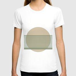 Minimalist Sage Cream Abstract T-shirt