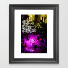 By myself Framed Art Print