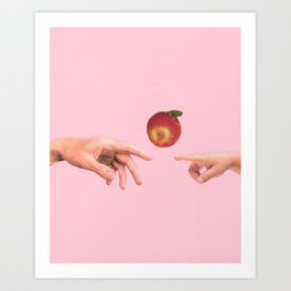 Apple touch Art Print