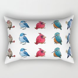 L'il Lard Butts - all the fat birds Rectangular Pillow