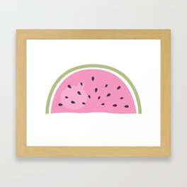 Pink watermelon isolated on white Framed Art Print