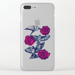 Rose & Swallows Clear iPhone Case