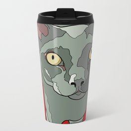 The Curious Cat Metal Travel Mug