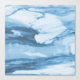 Marble Blue Ocean Canvas Print