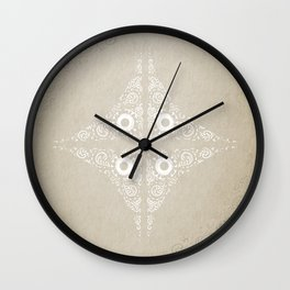 Pata Pattern in White Wall Clock