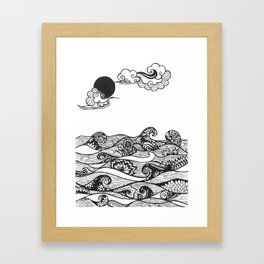 Swirly Water Framed Art Print