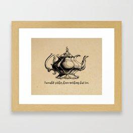 Jane Austen - Nothing But Tea Framed Art Print