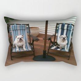 Bulldogs Lounging Rectangular Pillow