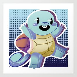 #007Squirtle. Art Print