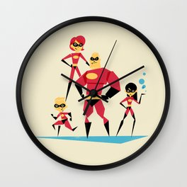 Incredi-family Wall Clock