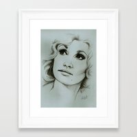 dolly parton Framed Art Prints featuring Dolly Parton by Talula Christian