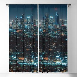 Los Angeles Skyline By Night United States Ultra HD Blackout Curtain