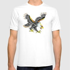 Eagle White Mens Fitted Tee SMALL