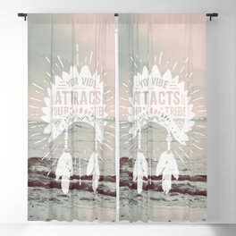Your Vibe Attracts Your Tribe - Pacific Ocean Blackout Curtain