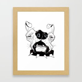 Ugly Ass Dog Framed Art Print