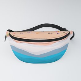 Beach Day | Aerial Illustration Fanny Pack