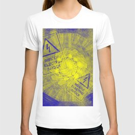 Abstract risk of electric shock T-shirt