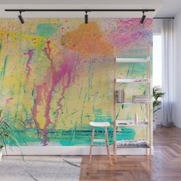 DRIPPING COLORS Wall Mural