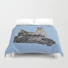 Dive in the city Duvet Cover
