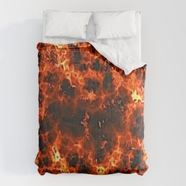 fire lava embers hot background Comforters