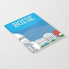 Boise, Idaho - Skyline Illustration by Loose Petals Notebook