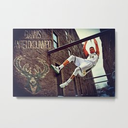 Milwaukee Basketball Metal Print